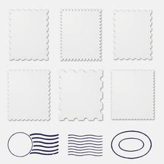 Blank stamp borders white