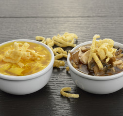 Egg Drop And Hot and Sour Soups