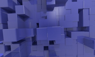 Ultramarine   computer  texture  deep Cube Background ''