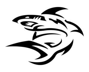 Tribal Tattoo Design - Shark