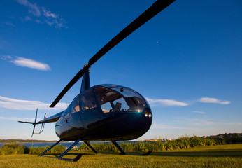 Poster Helicopter Robinson R-44