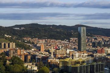 Vista de ciudad de Bilbao.