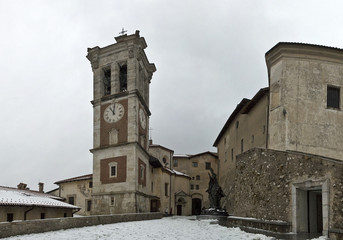 Bell tower in the ancient village, Sacred Mount of Varese