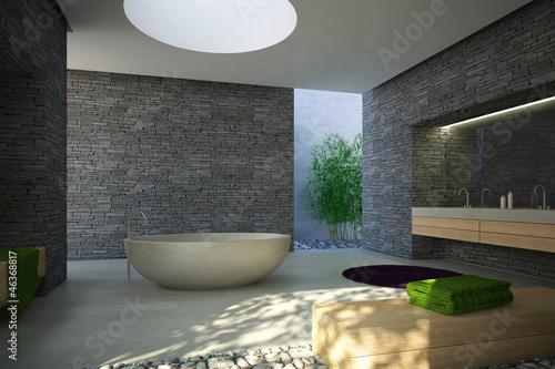 modernes bad stockfotos und lizenzfreie bilder auf bild 46368817. Black Bedroom Furniture Sets. Home Design Ideas