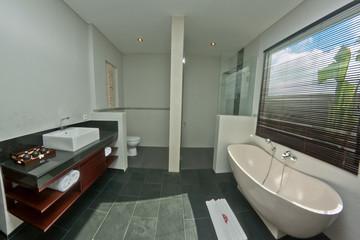 Tropical villa bathroom