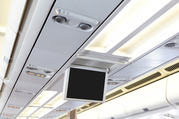 Display screen in the airplane