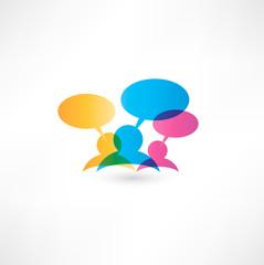 Talk concept speech bubbles