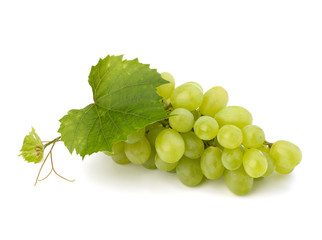 Ripe grape whith leaf