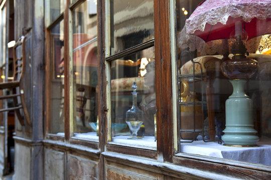 Brocante, antiquités, boutique, collection, magasin, vieux
