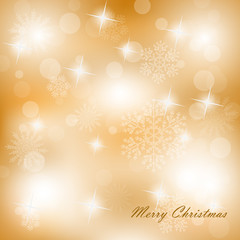 Christmas background with white snowflakes- vector