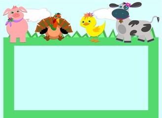 Frame with Farm Animals