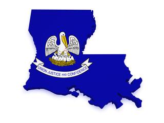 Louisiana Map 3d Shape