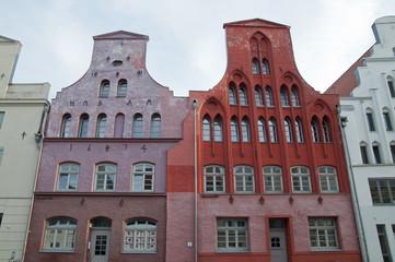 Häuserzeile, Wismar, Mecklenburg-Vorpommern, Deutschland