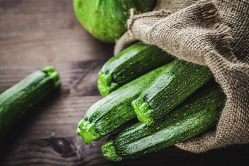 zucchini in sack