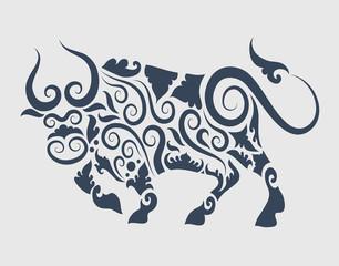 Bull tattoo vector