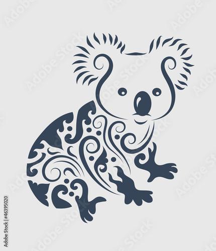 Koala Art And Design : Quot koala tattoo design stock image and royalty free vector