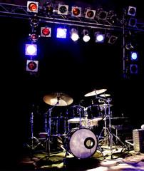 Schlagzeug und Licht Scheinwerfer Spot