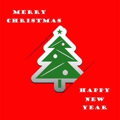Christmas tree applique vector background