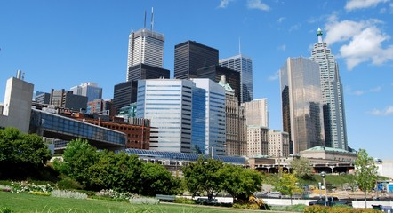 Fototapete - High Rise Buildings in Downtown Toronto, Canada