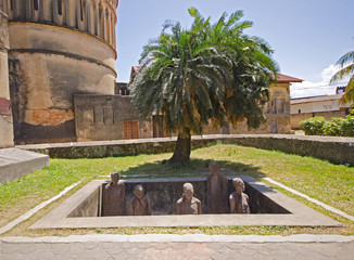 Slave Market Memorial in Stone Town on Zanzibar Island