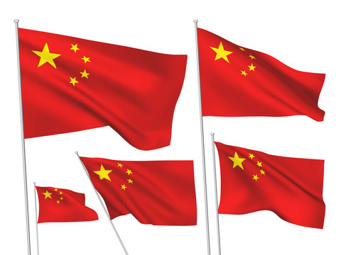 China (PRC) vector flags