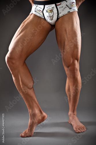 Muscular male legs\