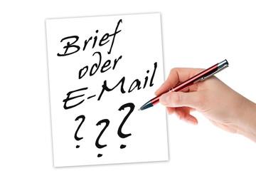 Brief oder E-Mail ?
