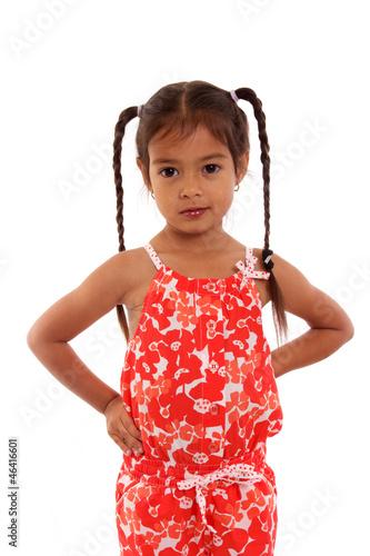 joli petite fille avec couettes photo libre de droits sur la banque d 39 images. Black Bedroom Furniture Sets. Home Design Ideas
