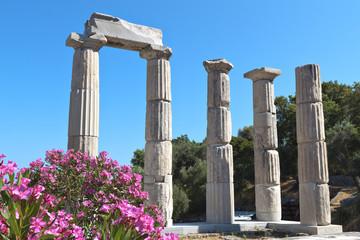 Ancient temple at Samothraki island in Greece