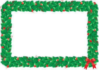 christmas holly's frame
