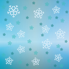 bright snow falling vector pattern