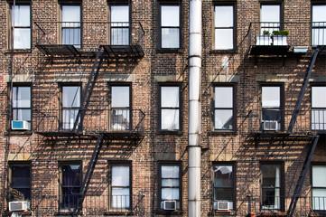 Wall Mural - Façade avec escalier de secours - New York