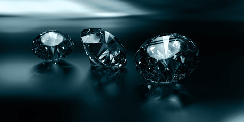 diamonds close up