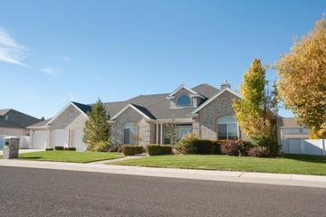 Contemporary Brick Home