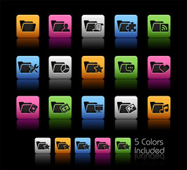 Folder Icons - 2 of 2 / The vector file includes 5 colors