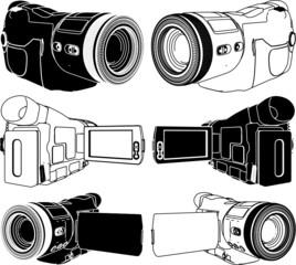 High-Definition Video Camera Vector 05