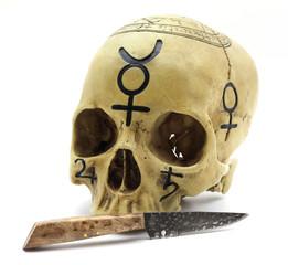 Occult Skull with dagger