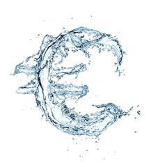 Water Euro symbol