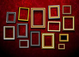 Picture frame vector. Photo art gallery.Picture frame vector. Ph
