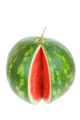 Single notched striped watermelon