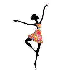 Recess Fitting Floral woman ballerina in a flower dress