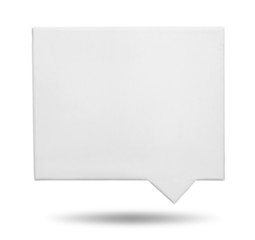 Speech bubbles blank canvas
