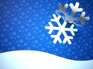 Creative modern Christmas background, snow flake