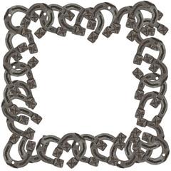 frame of horseshoes