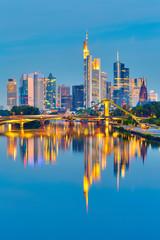 Foto op Aluminium Kuala Lumpur Frankfurt after sunset
