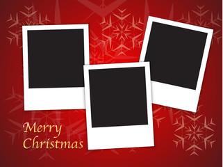 Christmas card templates with blank photo frames