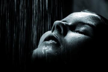 Girl under shower 3