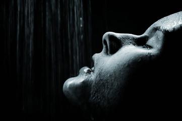 Girl under shower 2