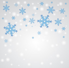 Snow fall. Winter background.