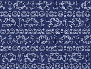 Seamless pattern. sea style.